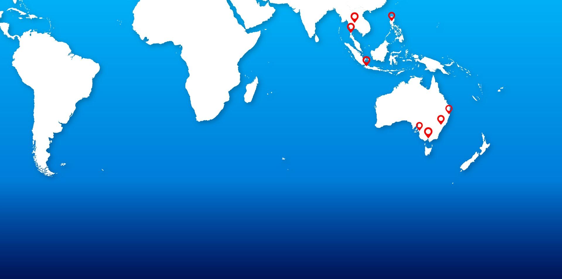 Hilco APAC locations - Asia Pacific Region