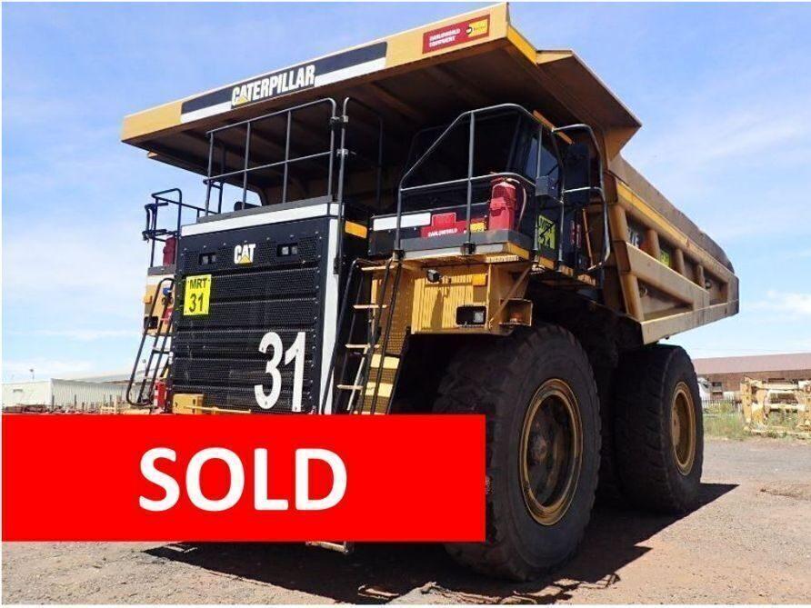 **SOLD** 2017 Caterpillar 777E Rigid Dump Truck